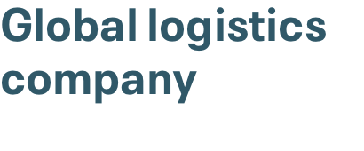 Global logistics company is monetizing proximity to customers logo