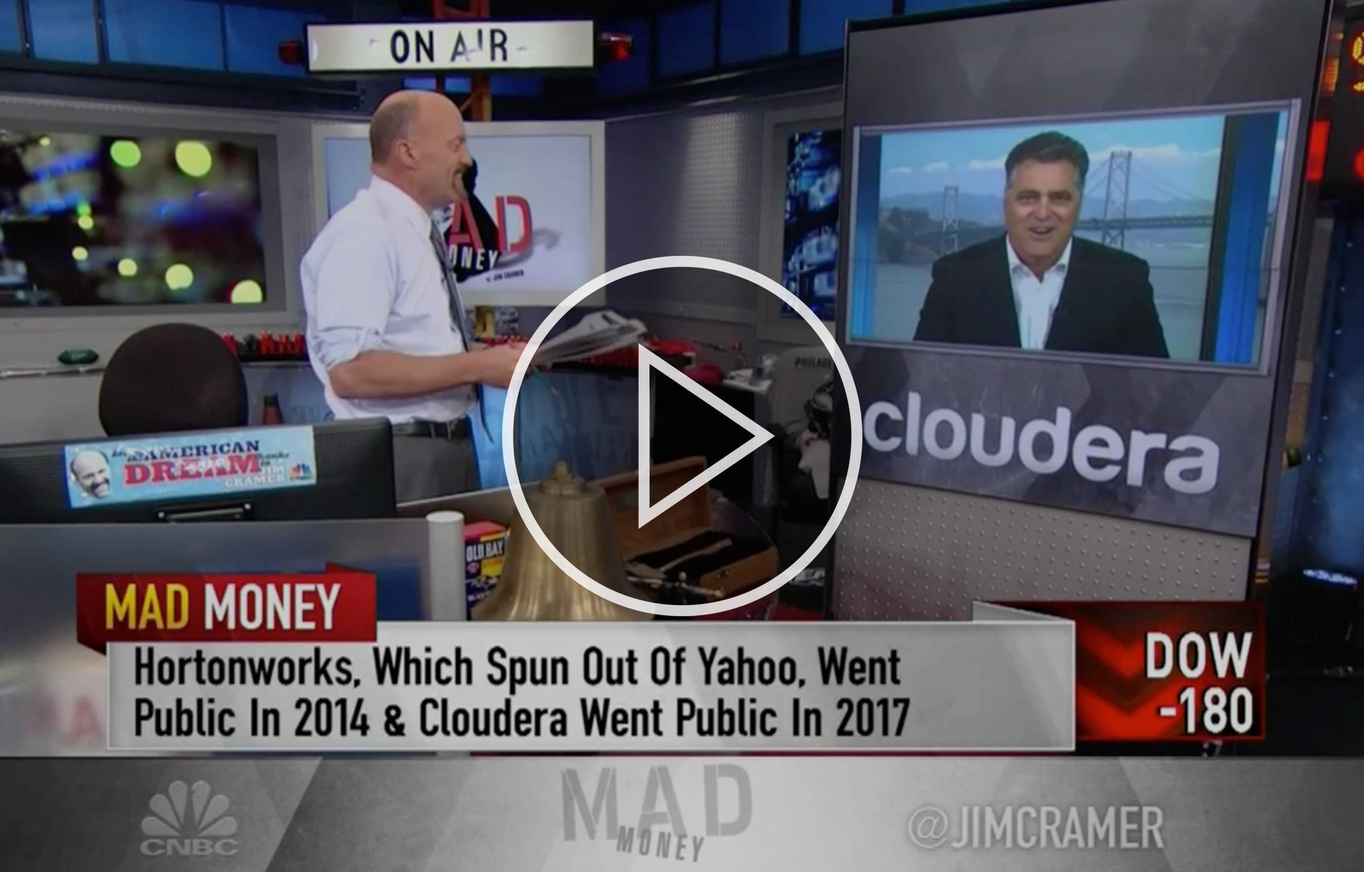 Jim Cramer interview with Cloudera CEO Tom Reilly