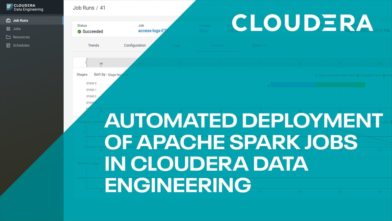 Automated deployment of Apache Spark Jobs in Cloudera data engineering