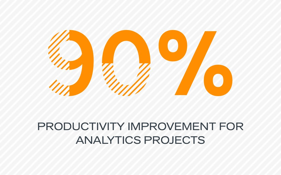 90% productivity improvement for analytics projects
