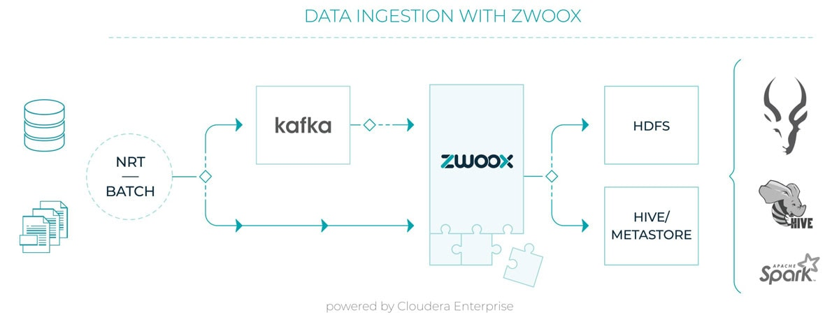 Data ingestion with Zwoox diagram