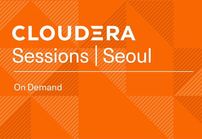 Cloudera Sessions Seoul Live