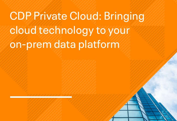 CDP Private Cloud: Bringing cloud technology to your on-prem data platform