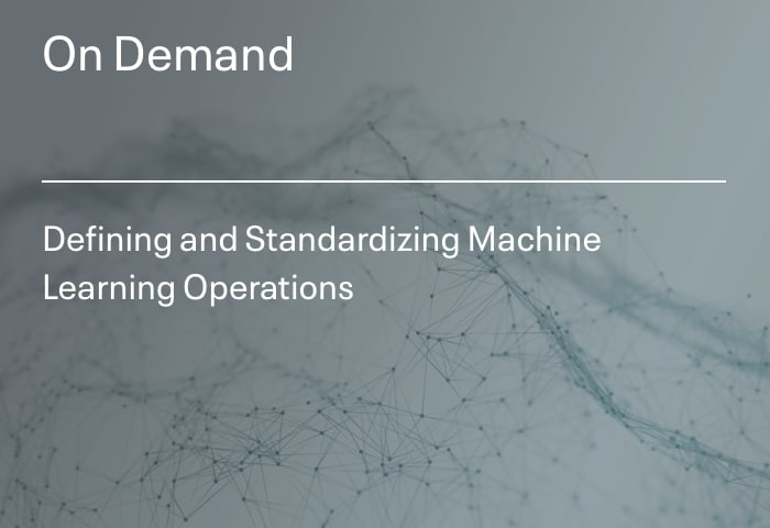 Defining and Standardizing Machine Learning Operations
