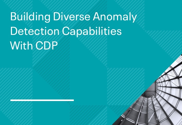 Building Diverse Anomaly Detection Capabilities With CDP