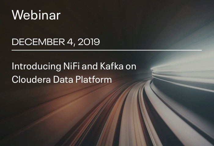 Introducing NiFi and Kafka on Cloudera Data Platform