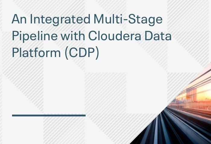 Product Demo: An Integrated Multi-Stage Pipeline with Cloudera Data Platform (CDP)