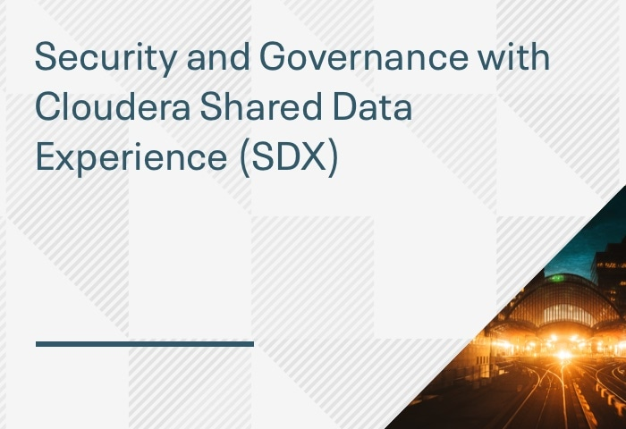 Product Demo: Security and Governance with Cloudera Shared Data Experience (SDX)