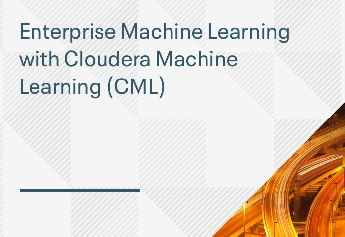 Product Demo: Enterprise Machine Learning with Cloudera Machine Learning (CML)