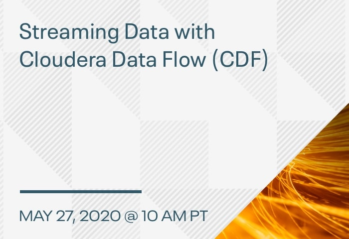 Product Demo: Streaming Data with Cloudera Data Flow (CDF)