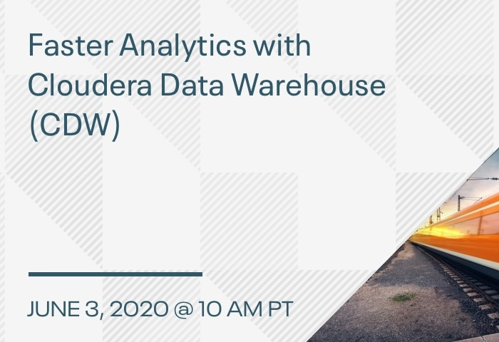 Product Demo: Faster Analytics with Cloudera Data Warehouse (CDW)