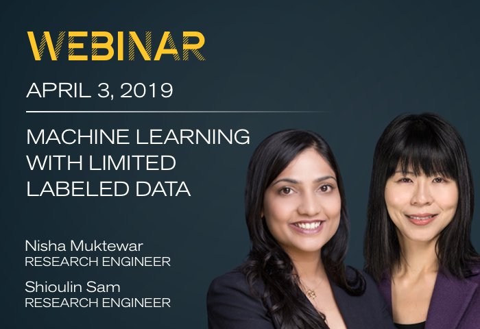 Machine Learning with Limited Labeled Data Webinar