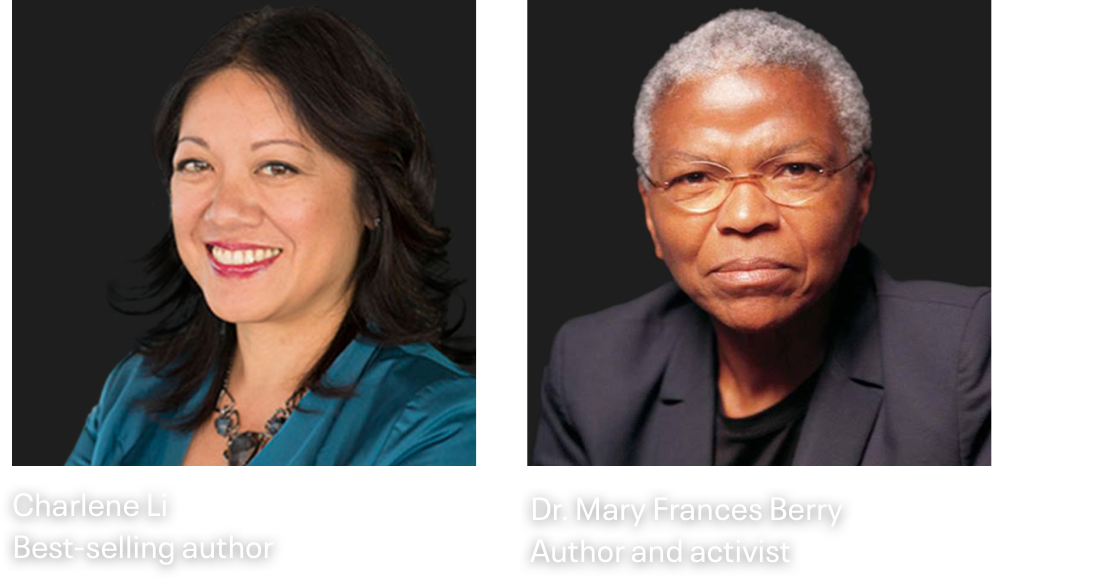 Cloudera Now Speakers: Charlene Li & Dr. Mary Frances Berry