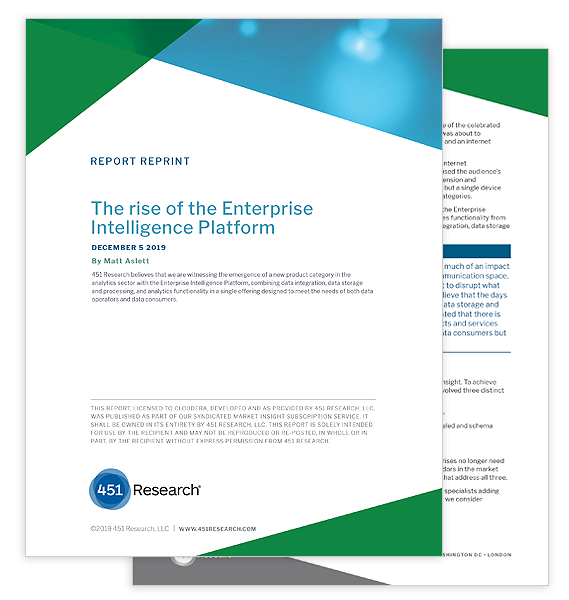 451 Research Report: The Rise of the Enterprise Intelligence Platform