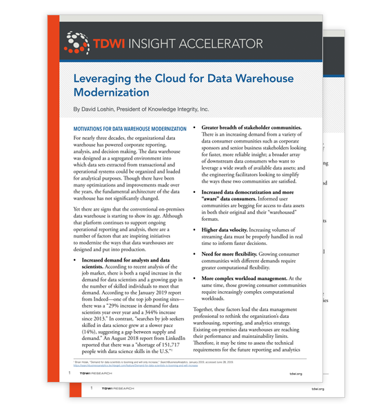 TDWI Insight Accelerator Report thumbnail
