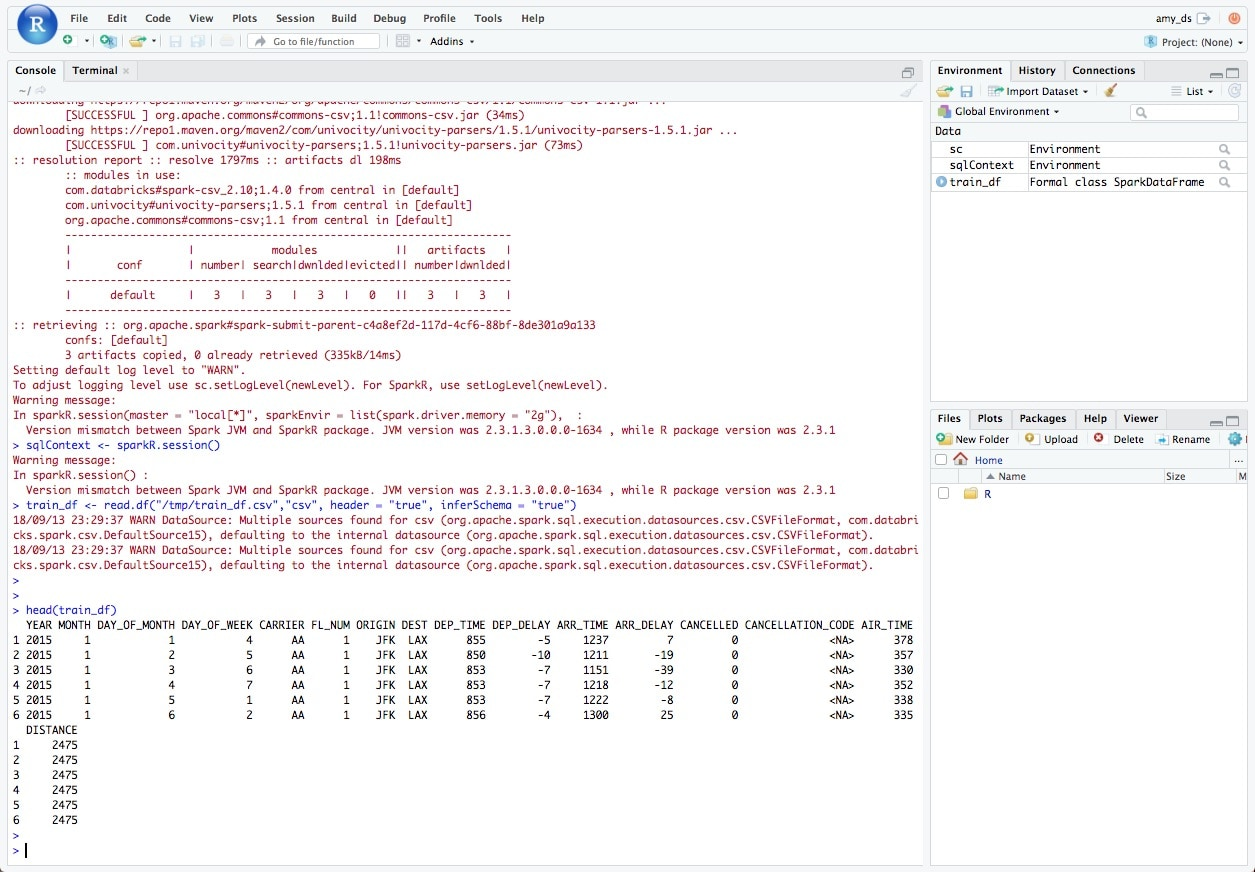 Advanced Analytics With SparkR In Rstudio