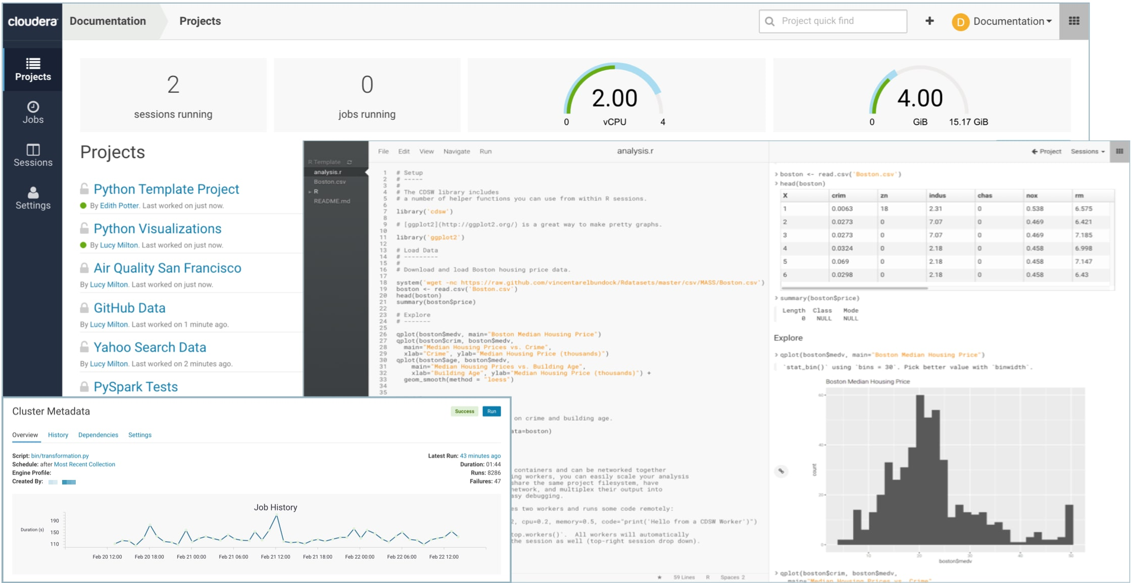 Cloudera Data Science Workbench Overview | 1 5 x | Cloudera