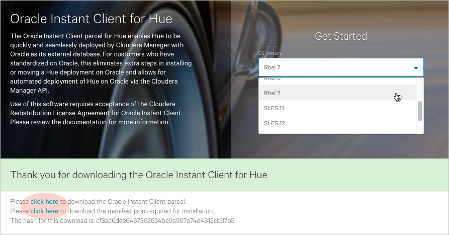 Connect Hue to Oracle with Client Parcel | 5 11 x | Cloudera