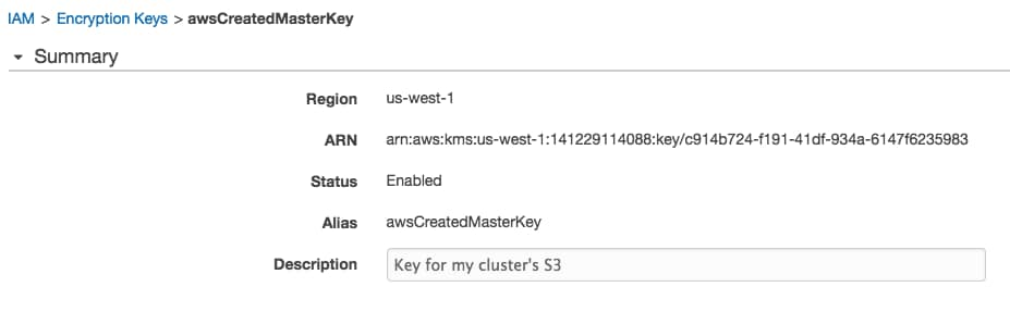 How to Configure Encryption for Amazon S3 | 5 11 x