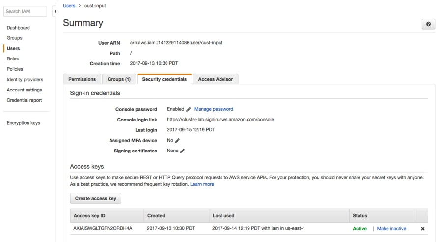 Configuring Extraction for Altus Clusters on AWS | 5 12 x | Cloudera