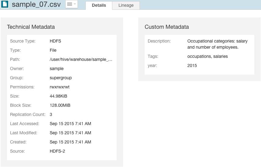 Modifying Custom Metadata   5 6 x   Cloudera Documentation