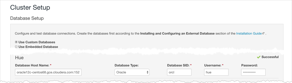 Install and Configure Oracle Database for Cloudera Software