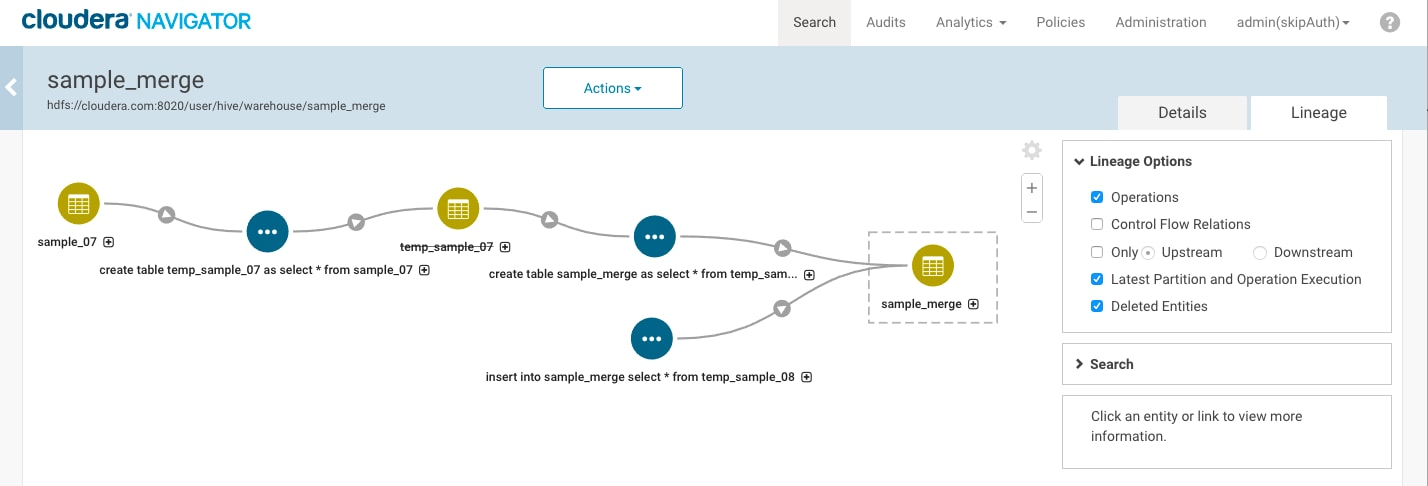 Generating Lineage Diagrams | 6 3 x | Cloudera Documentation